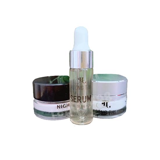 Bộ dưỡng da mặt sáng tối đa chức năng Hương Thị Facial Multi Purpose White Cream Collection Mini