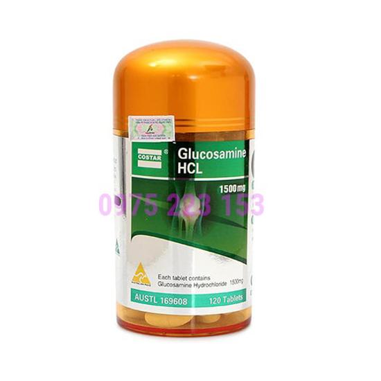 Viên uống hỗ trợ xương khớp Glucosamine HCL Costar 1500mg - 120 viên